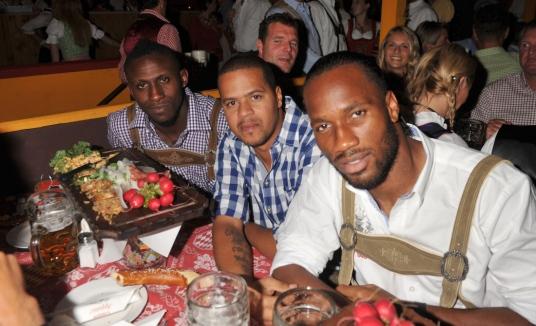 Didier Drogba looking cute …